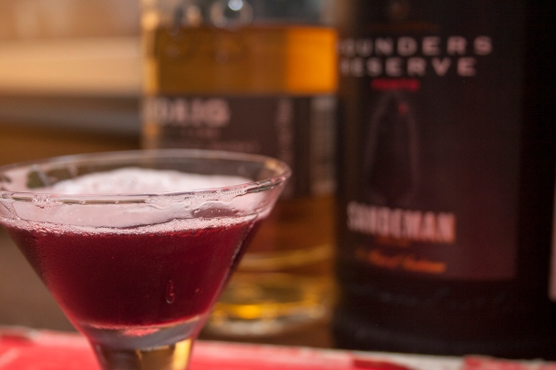 Sandeman Royal in a sample martini glass.