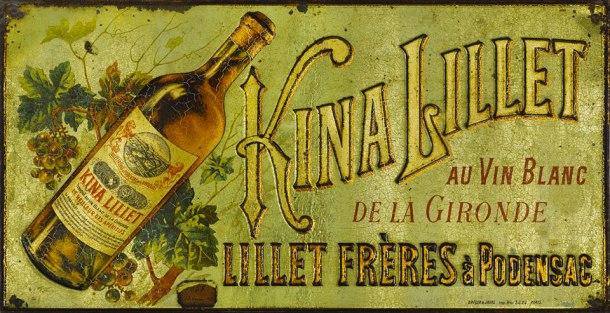 A Kina Lillet advertisement plate, via Lillet's official website.